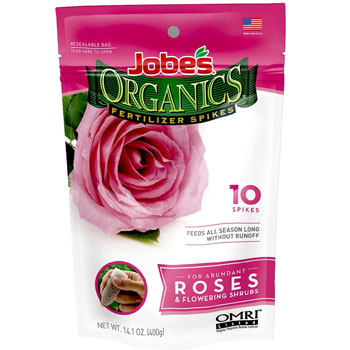 Jobe's Organics Rose & Flower Fertilizer Spikes
